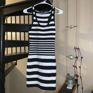 Women strechy striped dress